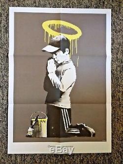 Affiche De Banksy Don't Panic, 'nous Sommes Notre Victime De L'intrusion', Rare
