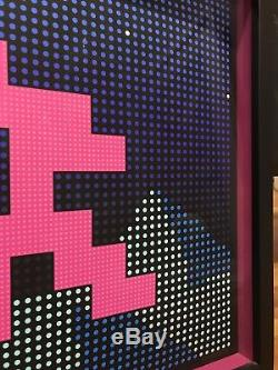 Affiche De L'espace D'impression À Led Signée Invader L. E. D. Sunset Banksy