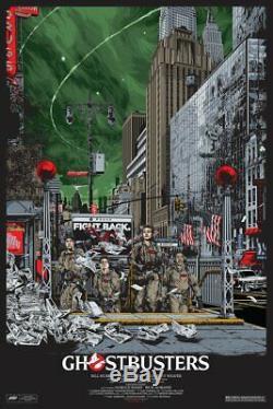 Affiche De Sérigraphie Variante Ghostbusters Par Ken Taylor X / 300 Limited Mondotees