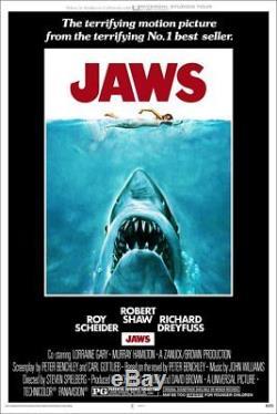 Affiche Sérigraphie Jaws Mondo Roger Kastel Édition Limitée, Couverture Originale Pcc