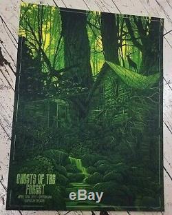 Affiche Signée Du Diptyque Danger De Fantômes De La Forêt Boston & Portland Set