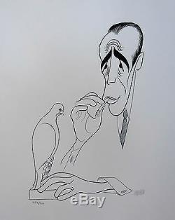 Al Hirschfeld La Maltese Falcon Signée À La Main Ltd Ed. Lithographie Bogart Humphrey