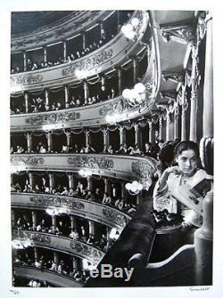 Alfred Eisenstaedt Signé 1933 Première Photo Première À La Scala, Milan