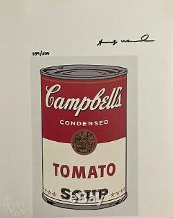 Andy Warhol 1986 Main Originale D'impression Signé Avec Le Certificat, La Revente 5850 $