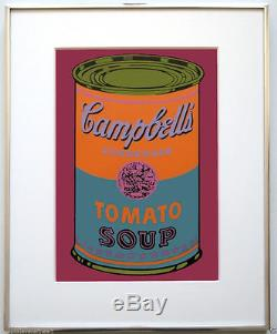 Andy Warhol Campbell's 1968 Sérigraphie Couleur Soupe Aux Tomates Vintage 1968 Jklfa. Com