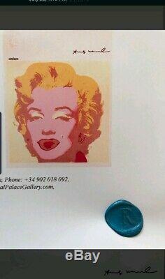 Andy Warhol, Original Signé, Certificat D'impression Coa $ 3450 Année 1986