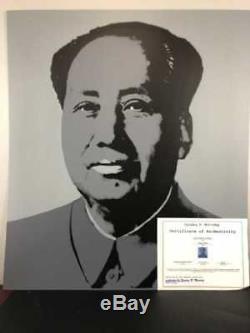 Andy Warhol Président Mao Original Sunday B Matin Sérigraphie Pop Art Moderne