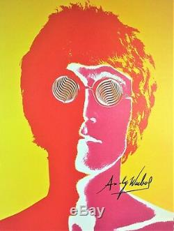 Andy Warhol Signé Signé John Lennon Imprimé Avec C. O. A
