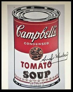 Andy Warhol Signé Soup Can I Campbell Imprimer La