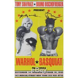 Andy Warhol (artiste) & Jean-michel Basquiat (artiste) Signé Affiche De L'exposition