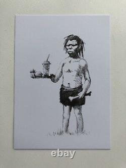 Authentique Banksy Pow Plus Sièges Upstairs Carte Postale Signée