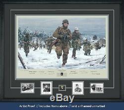 Band Of Brothers Dépeignant Ron Speirs Et Dédicacé Par 14 Bastogne Vets
