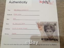 Banksy Bomb Middle England Signée Original 2003 Ap De 31 + Coa De Lutte Antiparasitaire