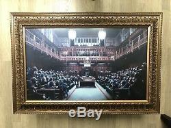Banksy Déconcentrée Parlement Offset. Lithographie Imprimer. Série Originale De L'artiste 2009