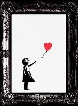 Banksy Fille Avec Ballon Original. Coa Signé, Numéroté Et Non Déchiqueté