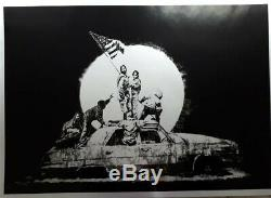 Banksy Flags Argent (non Signé) Original Edition Limitee Screenprint