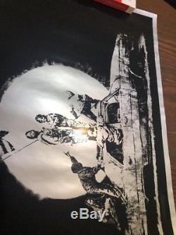 Banksy Flags Silver, Genuine, Non-signé