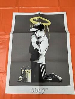 Banksy Forgive Us Our Tresspassing Double Sided Print, In Original Dont Panic