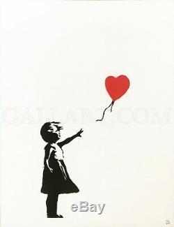 Banksy Girl With Balloon 2004 - Contrôle De La Sérigraphie Numérotée Et Numérotée