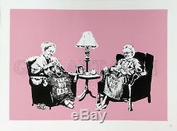 Banksy Grannies 2006 Rare Sérigraphie Numérotée Numérotée Gallart