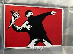 Banksy Litta Love Is In The Air With Coa Certificate Never Framed