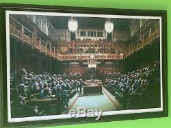 Banksy, Monkey Parliament, Chimpanzee, Lithographie Originale, Musée De Bristol