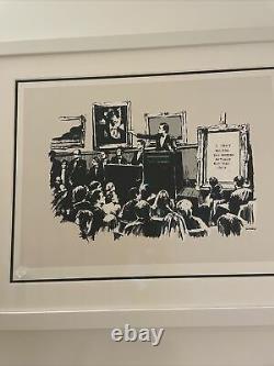 Banksy Morons Screen Print, 2007, Édition Non Signée, Coa En Main