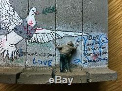 Banksy Originale Armored Dove Muré Certificat Hôtel-original Epuisé