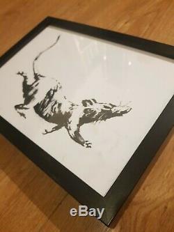 Banksy Pib Rat Croydon Exposition Original Imprimer