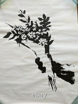 Banksy Produit Intérieur Brut Flower Thrower Limited Edition Écran Imprimer Pow
