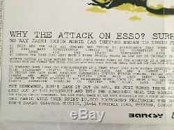 Banksy Rare Ne Pas Panique Poster'stop Esso. Hôtel Muré