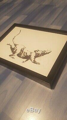Banksy Rat Croydon Pib Exposition Boutique Véritable Original Print