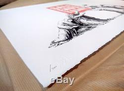 Banksy Sale Termine Les Images Sur Les Murs (pow) Signé Et Numéroté Avec Pc Coa