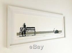 Banksy Signé Écran Original Imprimer Weston Super Mare Professionnellement Encadrée