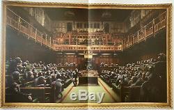 Banksy Singe Déconcentrée Parlement Poster Sotheby Aux Enchères Produit Intérieur Brut