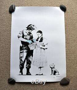 Banksy Stop And Search Pow Imprimer Signé Non Pas De Description De Numéroté Voir Coa