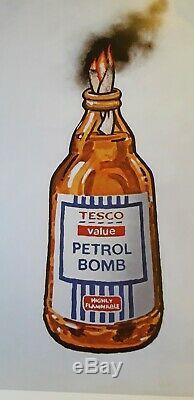 Banksy Tesco Valeur Petrol Bomb 1/2000 Ltd Edition 2011 Lithographie Originale Imprimer