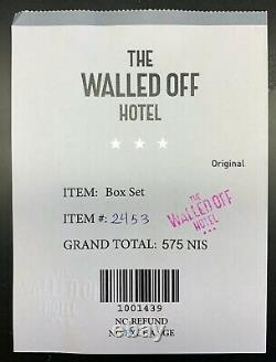 Banksy Walled Off Hôtel Box Set And Receipt (embossed Stamped Matching Edition)