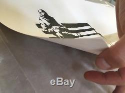 Banksy Weston Super Mare Signé Original Imprimer 2003 Coa Lutte Antiparasitaire Sans Cadre