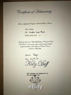 Ben Eine Originale Signé 2008 Font Alphabet 77 Couleurs Avec Nelly Duff A Signé Coa