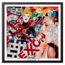 Ben Frost Limitée 24x24 Can Not Sleep, Eat Me Clowns Rare Art Htf X / 20