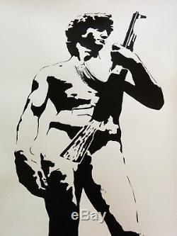 Blek Le Rat Signed Ltd Edtion David Avec L'inspiration Kalashnikoff Banksy Aucun Res