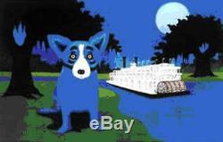 Blue Dog George Rodrigue Rollin Sur La Rivière Faire Une Offre Ba Dss