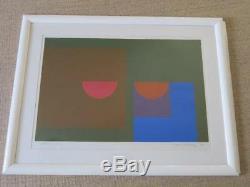 Bob Crossley (1912-2010) Une Paire D'art Énorme Pop Art Crayonné Sérigraphie Signée Années 1960