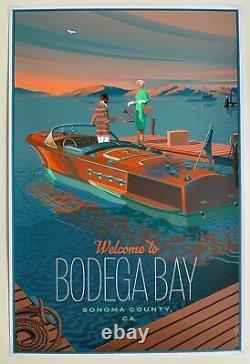 Bodega Bay Laurent Durieux Mondo Artiste The Birds Poster Print Hitchcock /450