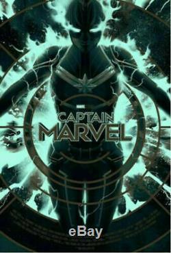 Captain Marvel Variante De Matt Taylor Affiche Mondo Marvel Art Print Gid