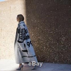 Celine Limited Edition Peter Miles Artiste Imprimer Fw18 Blanket Coat Poncho