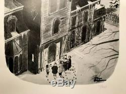 Charles Addams Addams Family Edition Limitée N ° 13/500 Carolers Imprimés