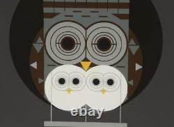 Charley Harper Signed Limited Edition Serigraph Family Owlbum, 1972