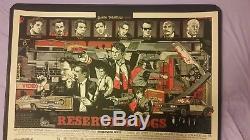 Chiens Reservoir Tyler Stout Signed Mondo Print Poster Tarantino